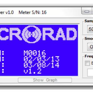 foto di un particolare del Microrad EMC Viewer