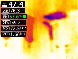 foto del display della termocamera FLIR MR176