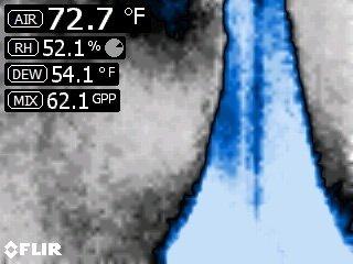 foto del display della termocamera FLIR
