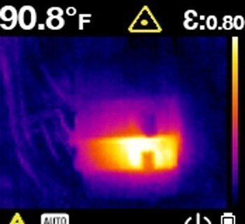 immagine di un display di una termocamera