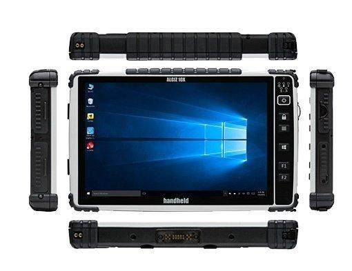 immagine dei vari lati dell'Handheld Algiz 10X tablet