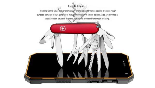 foto del Gorilla Glass del Queequeg Nomu S10